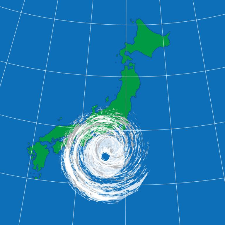 台風上陸数